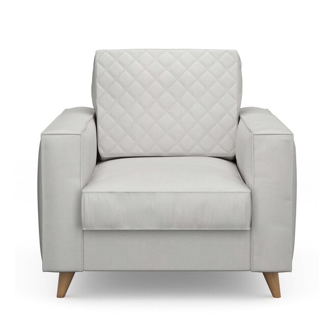 Rivièra Maison Fauteuil 'Kendall' Cotton, kleur Ash Grey