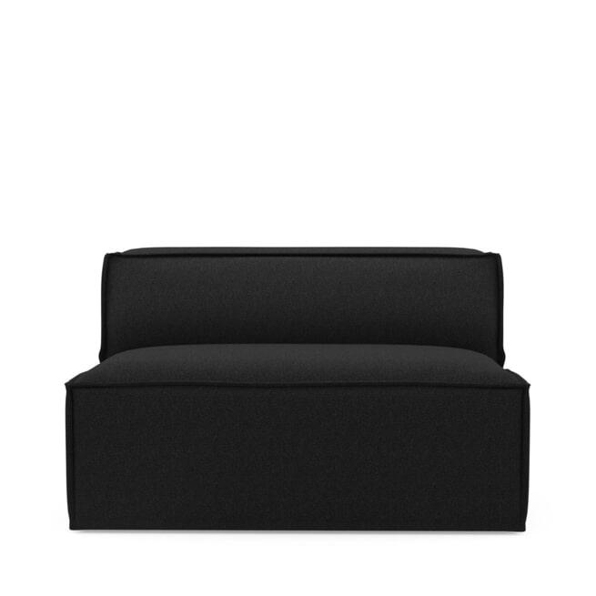 Rivièra Maison Modulaire Bank 'The Jagger' Center 125cm, Oxford Weave, kleur Basic Black