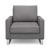 Rivièra Maison Fauteuil 'West Houston' Oxford Weave, kleur Steel Grey