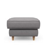Rivièra Maison Hocker 'Kendall' Oxford Weave, kleur Steel Grey