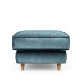Rivièra Maison Hocker 'Kendall' Velvet, kleur Petrol