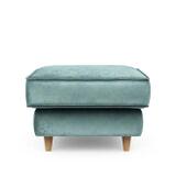 Rivièra Maison Hocker 'Kendall' Velvet, kleur Mineral Blue