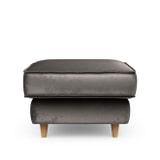 Rivièra Maison Hocker 'Kendall' Velvet, kleur Grimaldi Grey