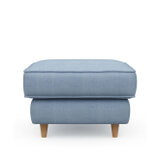 Rivièra Maison Hocker 'Kendall' Cotton, kleur Ice Blue
