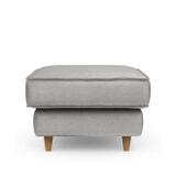 Rivièra Maison Hocker 'Kendall' Velvet, kleur Platinum