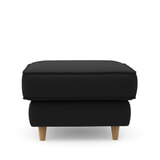 Rivièra Maison Hocker 'Kendall' Oxford Weave, kleur Basic Black