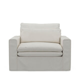 Rivièra Maison Loveseat 'Continental' Oxford Weave, kleur Alaskan White