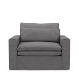 Rivièra Maison Loveseat 'Continental' Oxford Weave, kleur Steel Grey