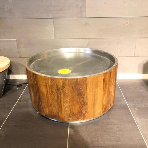 By-Boo Salontafel 'Tub dark' 70cm, kleur metaal (Showroommodel)