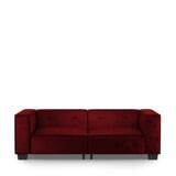 Rivièra Maison 3,5-zits Bank 'Hampton Heights' Velvet, kleur Vineyard Burgundy