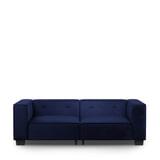 Rivièra Maison 3,5-zits Bank 'Hampton Heights' Velvet, kleur Midnight Blue