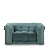 Rivièra Maison Loveseat 'Cobble Hill' Velvet, kleur Mineral Blue