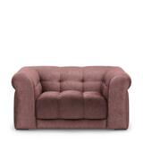 Rivièra Maison Loveseat 'Cobble Hill' Velvet, kleur Dusty Pink