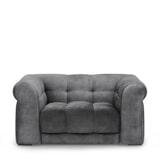 Rivièra Maison Loveseat 'Cobble Hill' Velvet, kleur Rock Grey