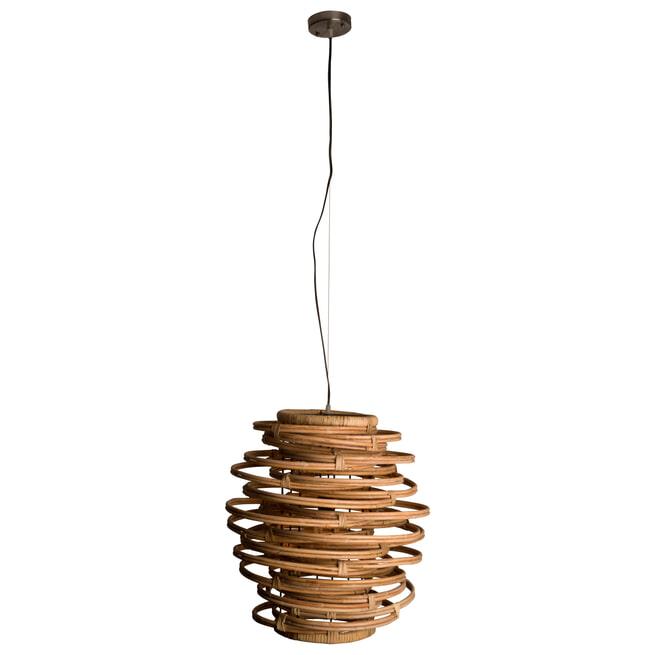 Dutchbone Hanglamp 'Kubu' Rattan, 45cm