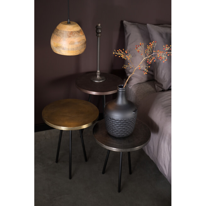 Dutchbone Hanglamp 'Woody' Mangohout, 20cm