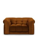 Rivièra Maison Loveseat 'Cobble Hill' Velvet, kleur Golden Brown