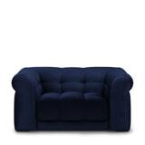 Rivièra Maison Loveseat 'Cobble Hill' Velvet, kleur Midnight Blue