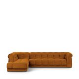 Rivièra Maison Hoekbank 'Cobble Hill' Links, Velvet, kleur Golden Brown