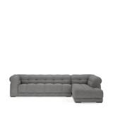 Rivièra Maison Hoekbank 'Cobble Hill' Rechts, Washed Cotton, kleur Grey