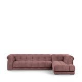 Rivièra Maison Hoekbank 'Cobble Hill' Rechts, Velvet, kleur Dusty Pink
