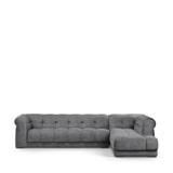 Rivièra Maison Hoekbank 'Cobble Hill' Rechts, Velvet, kleur Rock Grey