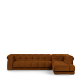 Rivièra Maison Hoekbank 'Cobble Hill' Rechts, Velvet, kleur Golden Brown