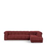 Rivièra Maison Hoekbank 'Cobble Hill' Rechts, Velvet, kleur Misty Rose