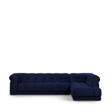 Rivièra Maison Hoekbank 'Cobble Hill' Rechts, Velvet, kleur Midnight Blue