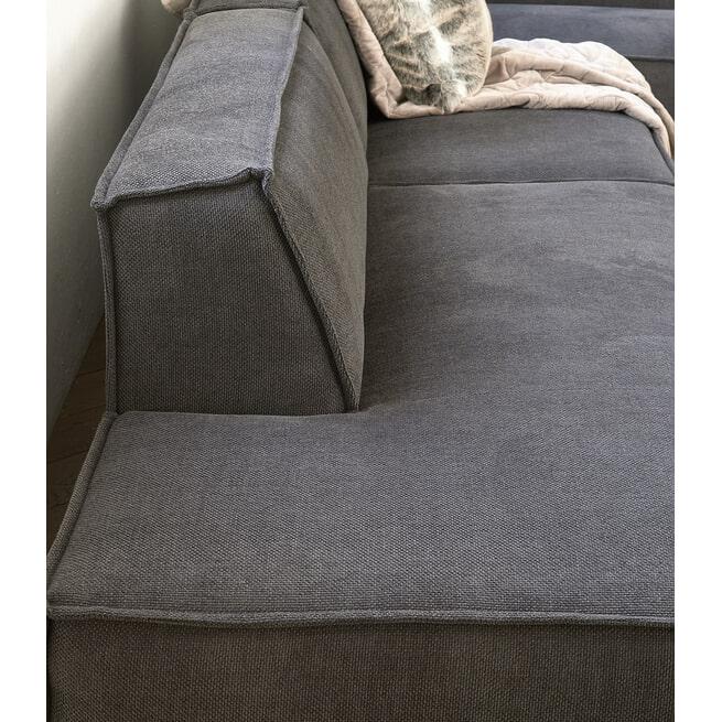 Rivièra Maison Modulaire Bank 'The Jagger' Lounger Links, Washed Cotton, kleur Grey