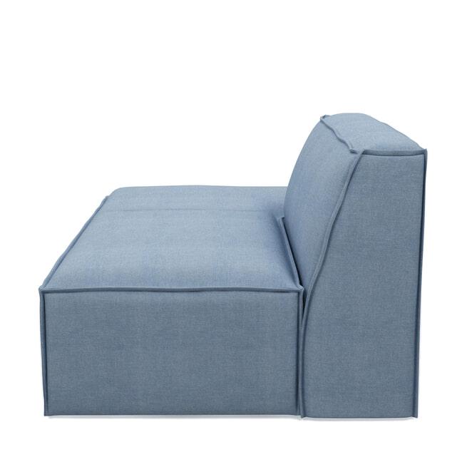 Rivièra Maison Modulaire Bank 'The Jagger' Lounger Links, Washed Cotton, kleur Ice Blue