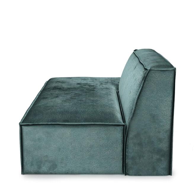 Rivièra Maison Modulaire Bank 'The Jagger' Lounger Links, Velvet, kleur Mineral Blue