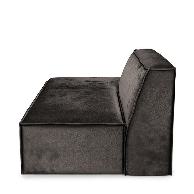 Rivièra Maison Modulaire Bank 'The Jagger' Lounger Links, Velvet, kleur Grimaldi Grey