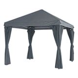 YardLife Paviljoen 'Yasumi' kleur grijs, 3 x 3m