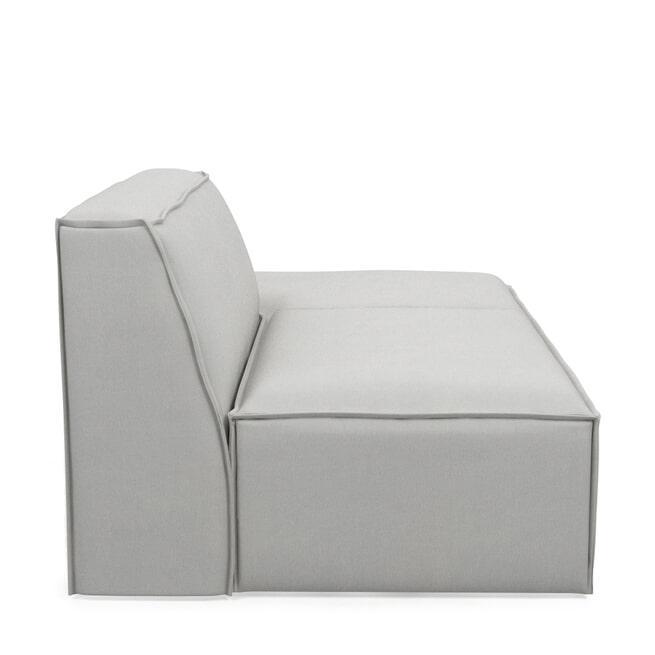 Rivièra Maison Modulaire Bank 'The Jagger' Lounger Rechts, Washed Cotton, kleur Ash Grey