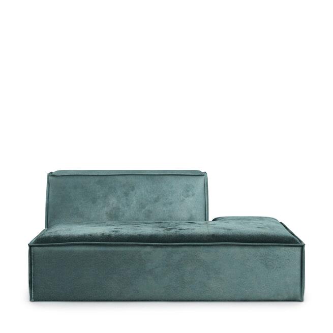 Rivièra Maison Modulaire Bank 'The Jagger' Lounger Rechts, Velvet, kleur Mineral Blue