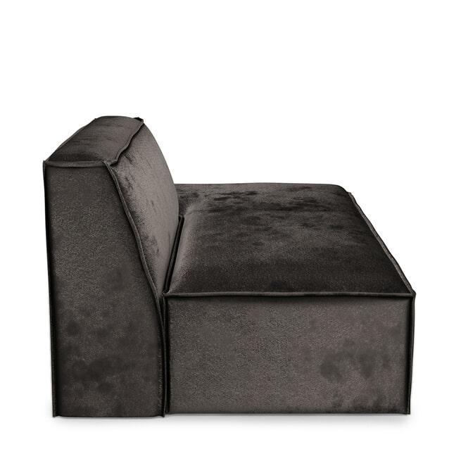Rivièra Maison Modulaire Bank 'The Jagger' Lounger Rechts, Velvet, kleur Grimaldi Grey