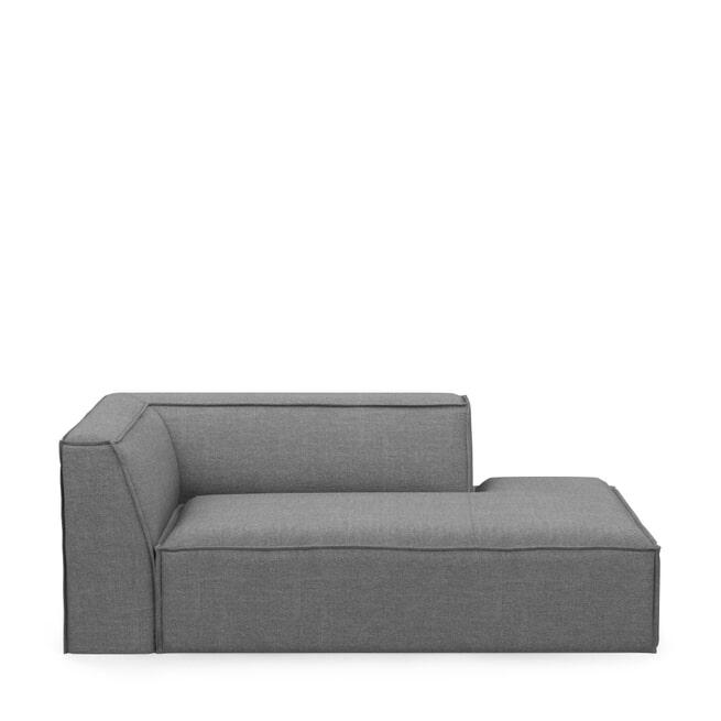 Rivièra Maison Modulaire Bank 'The Jagger' Chaise Lounge Rechts, Washed Cotton, kleur Grey