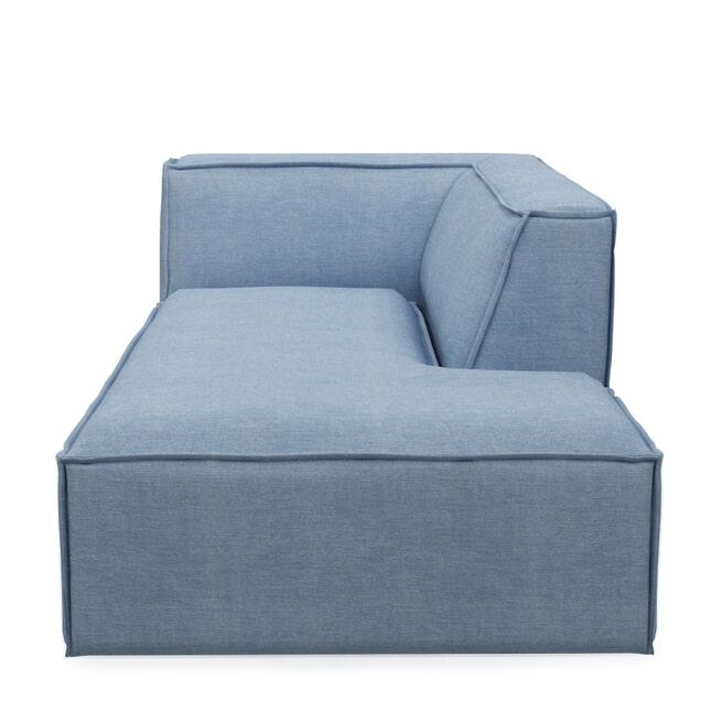 Rivièra Maison Modulaire Bank 'The Jagger' Chaise Lounge Rechts, Washed Cotton, kleur Ice Blue