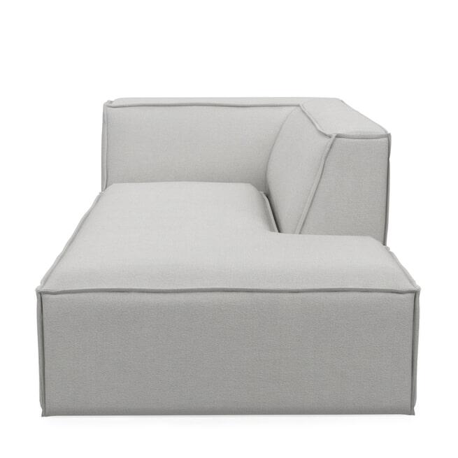 Rivièra Maison Modulaire Bank 'The Jagger' Chaise Lounge Rechts, Washed Cotton, kleur Ash Grey