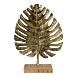 YardLife Ornament Gouden blad op voet