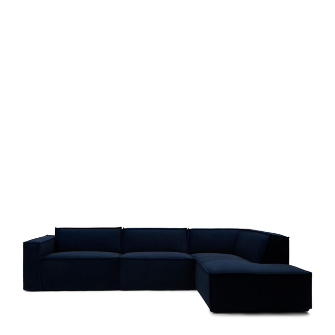 Rivièra Maison Modulaire Bank 'The Jagger' Chaise Lounge Rechts, Velvet, kleur Midnight Blue