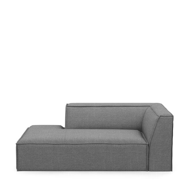 Rivièra Maison Modulaire Bank 'The Jagger' Chaise Lounge Links, Washed Cotton, kleur Grey