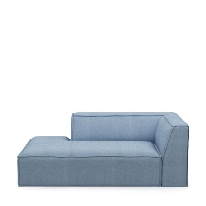 Rivièra Maison Modulaire Bank 'The Jagger' Chaise Lounge Links, Washed Cotton, kleur Ice Blue