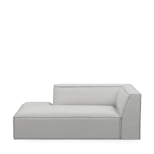 Rivièra Maison Modulaire Bank 'The Jagger' Chaise Lounge Links, Washed Cotton, kleur Ash Grey