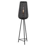 Light & Living Vloerlamp 'Adeta' mat zwart, 147cm hoog