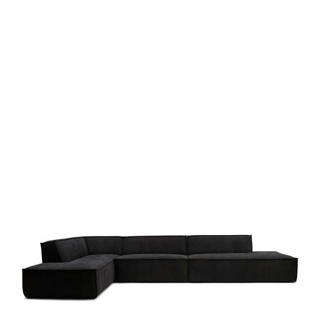 Rivièra Maison Modulaire Bank 'The Jagger' Chaise Lounge Links, Celtic Weave, kleur Caviar