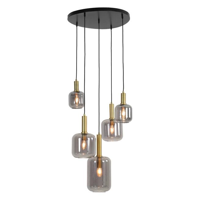 Light & Living Hanglamp 'Lekar' Antiek Brons/Smoke