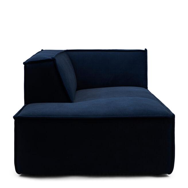 Rivièra Maison Modulaire Bank 'The Jagger' Chaise Lounge Links, Velvet, kleur Midnight Blue