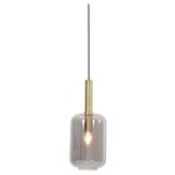 Light & Living Hanglamp 'Lekar' 1-lamps, kleur Antiek Brons/Smoke